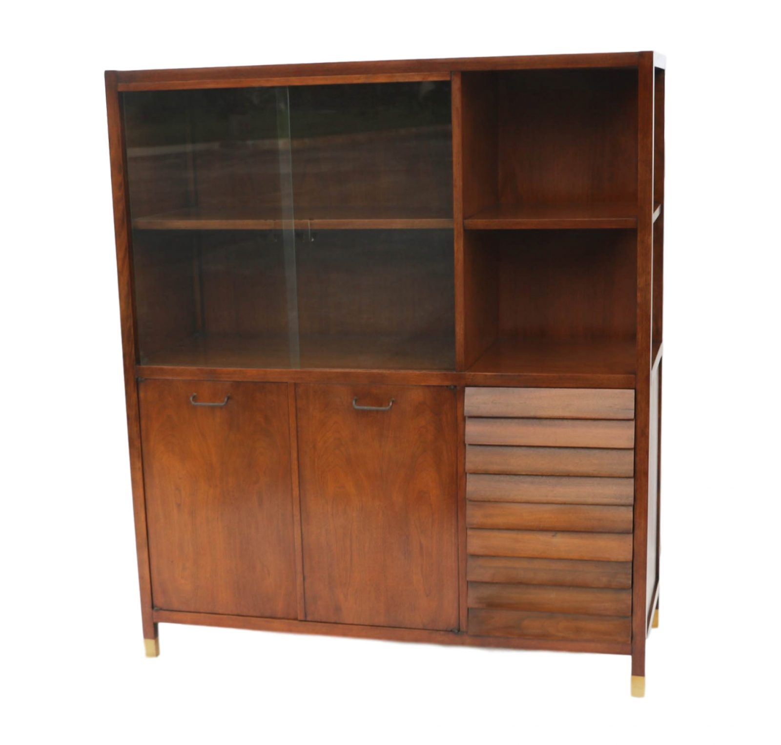 american martinsville mid century modern china cabinet hutch. Black Bedroom Furniture Sets. Home Design Ideas
