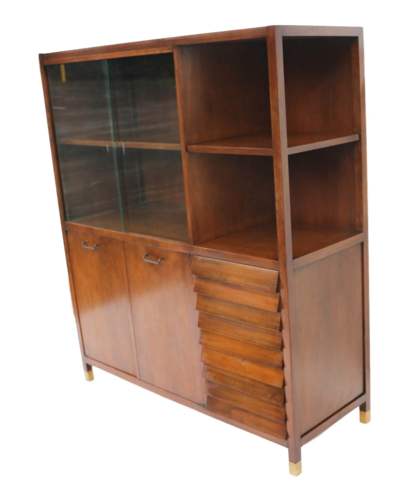 Retro Glass China Cabinet