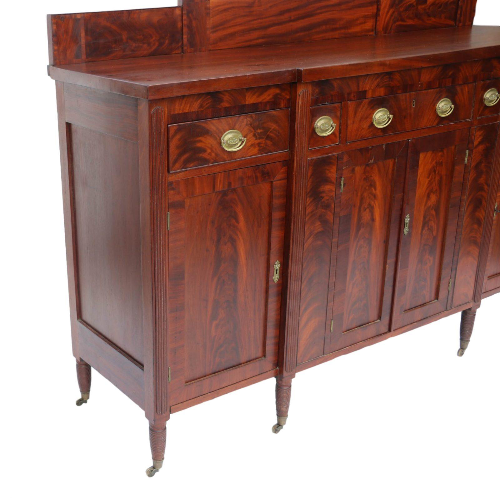 american federal mahogany sideboard. Black Bedroom Furniture Sets. Home Design Ideas