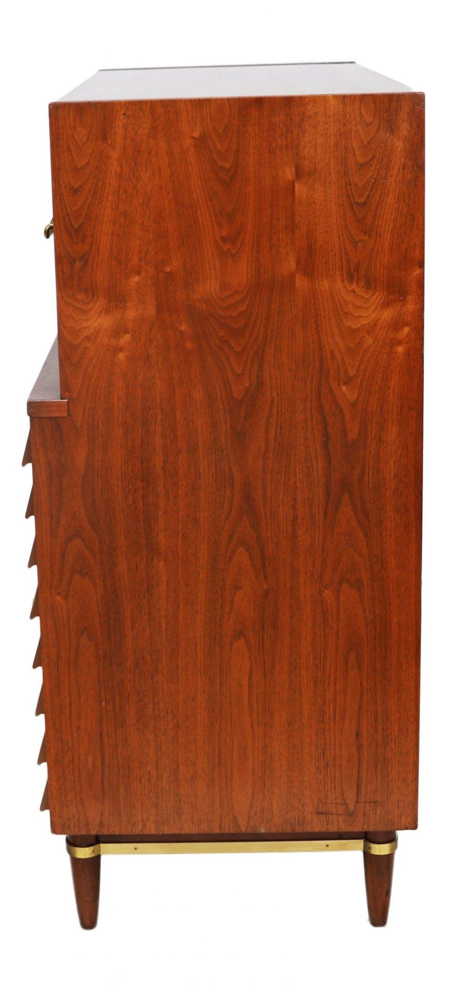 American Martinsville High Boy Walnut Dresser Chest Mid