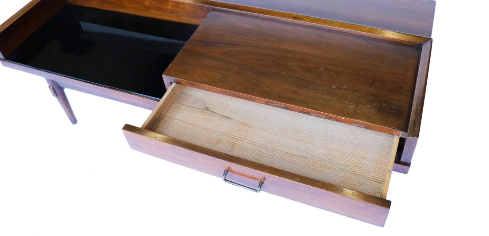 Mid century modern coffee table bench american of for Mid century american furniture