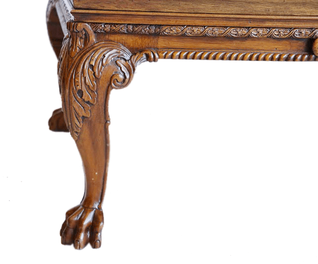 American Carved Walnut Coffee Table In The Chippendale Style