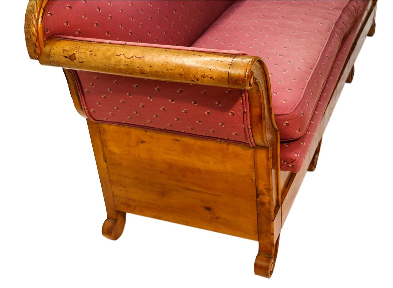 Antique 19th Century Maple Biedermeier Sofa