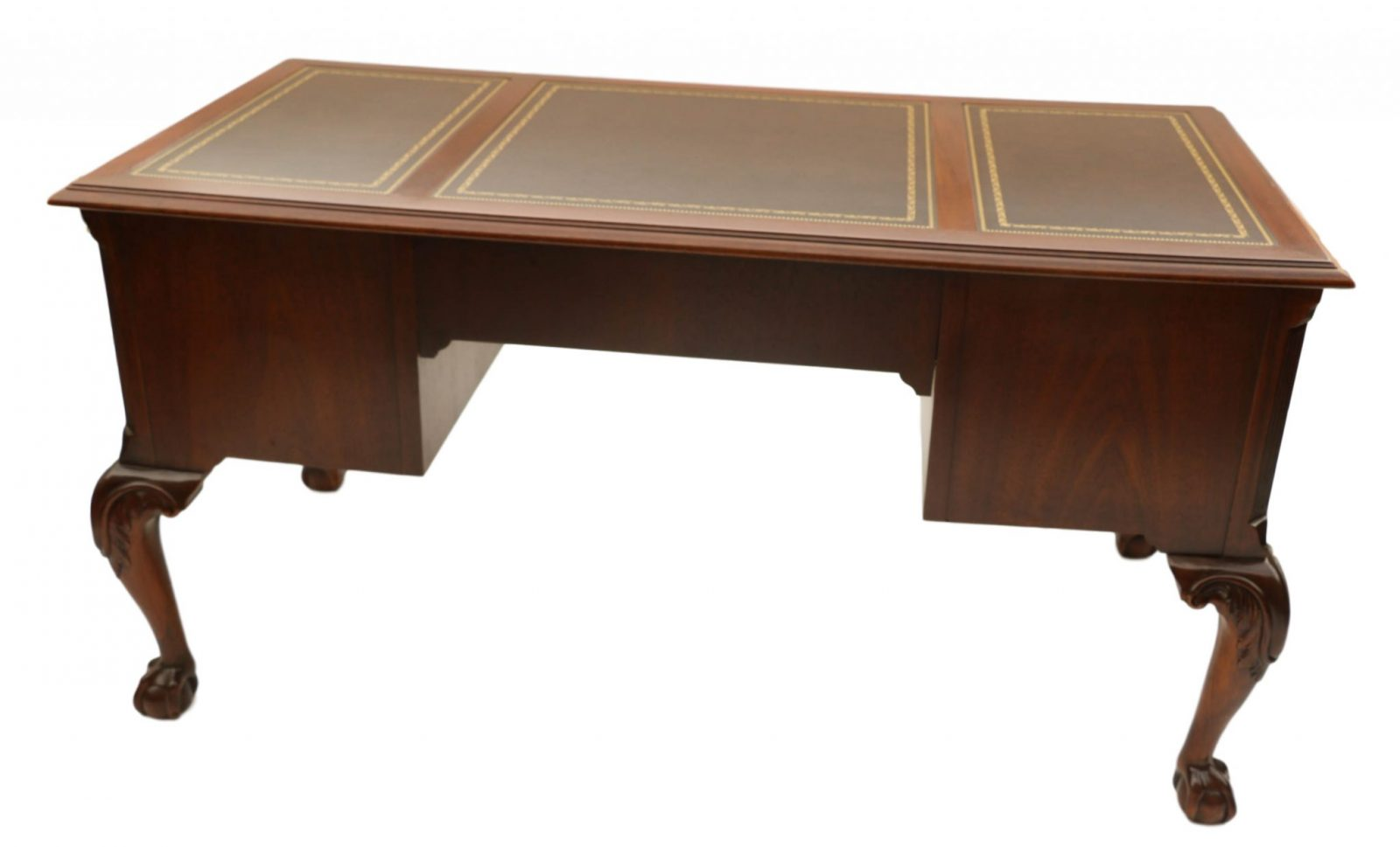 bhp vtg wheels ebay caster shelf end desk leather drawer side wood hekman top table mahogany furniture