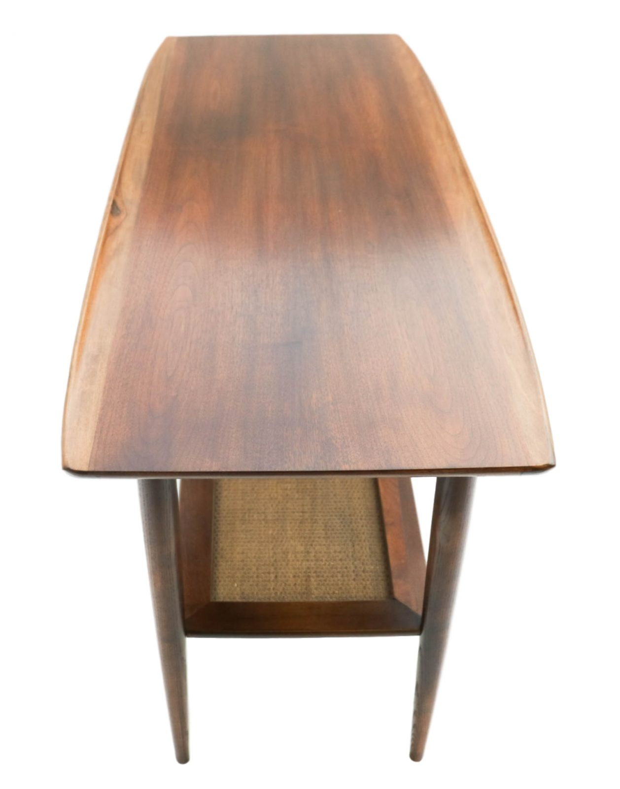 Beautiful Mid Century Modern Walnut Bassett Two Tier