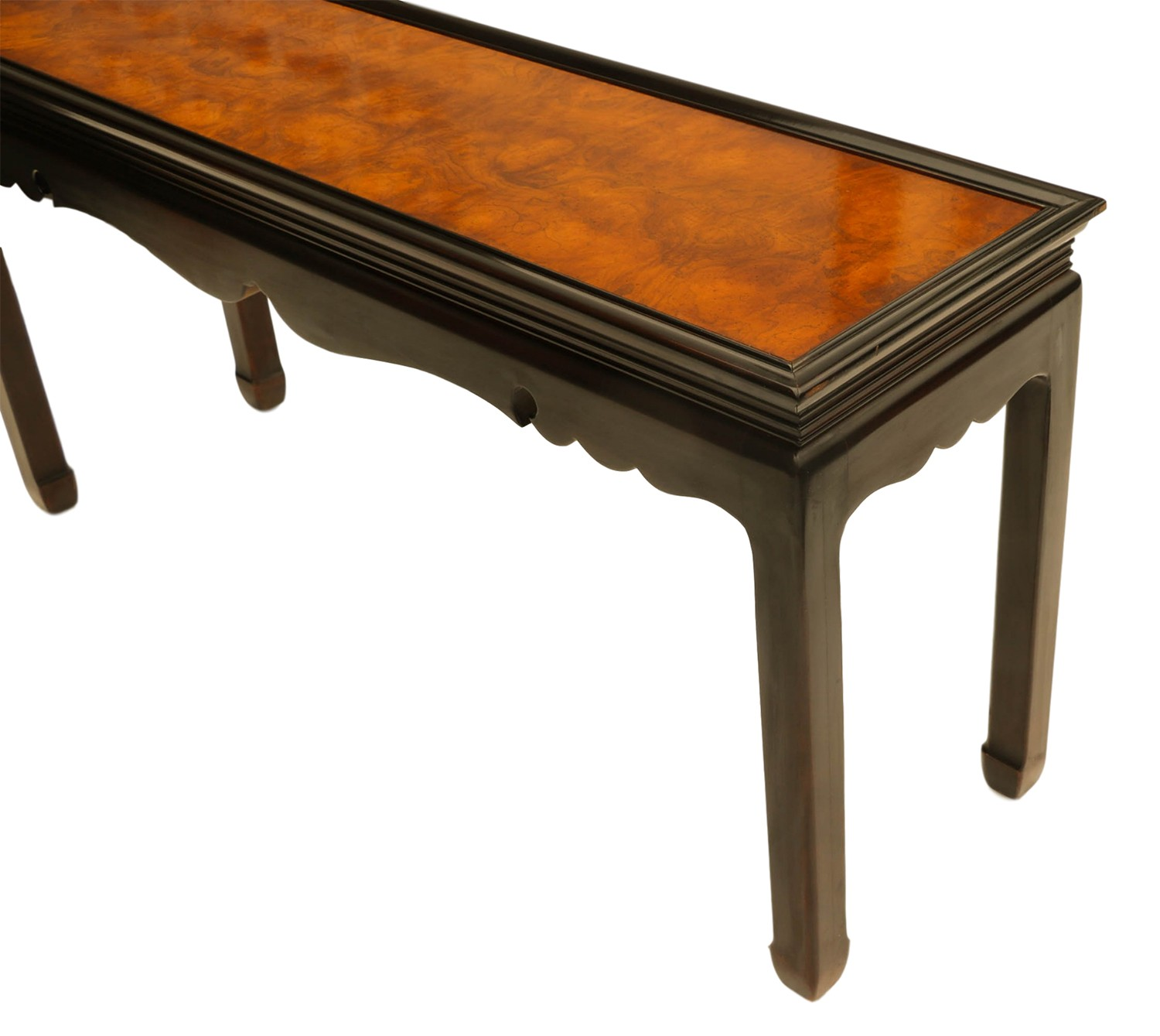 Burlwood Console Table Asian Oriental