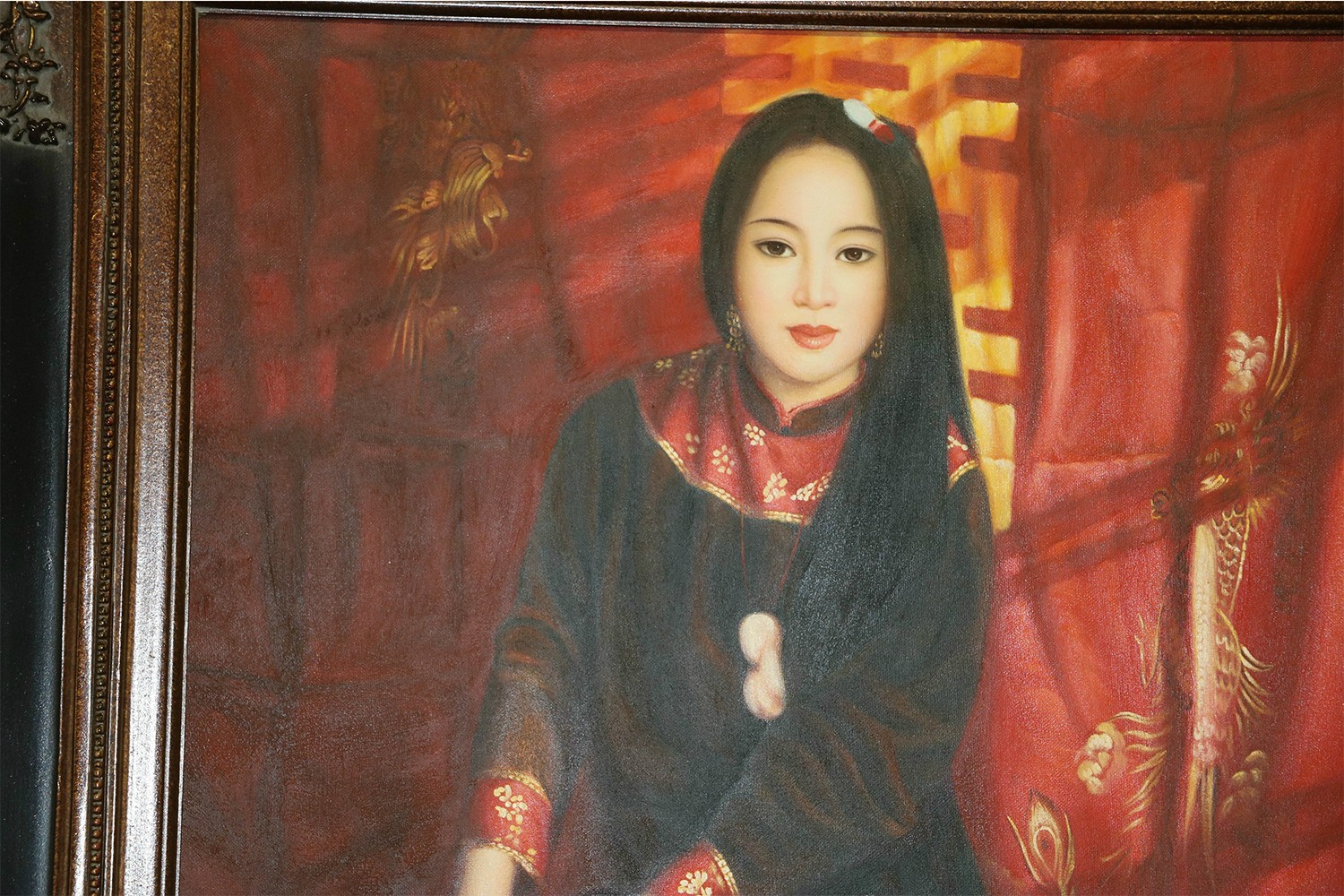 Chinese Oil Painting In The Style Of Chen Yifei