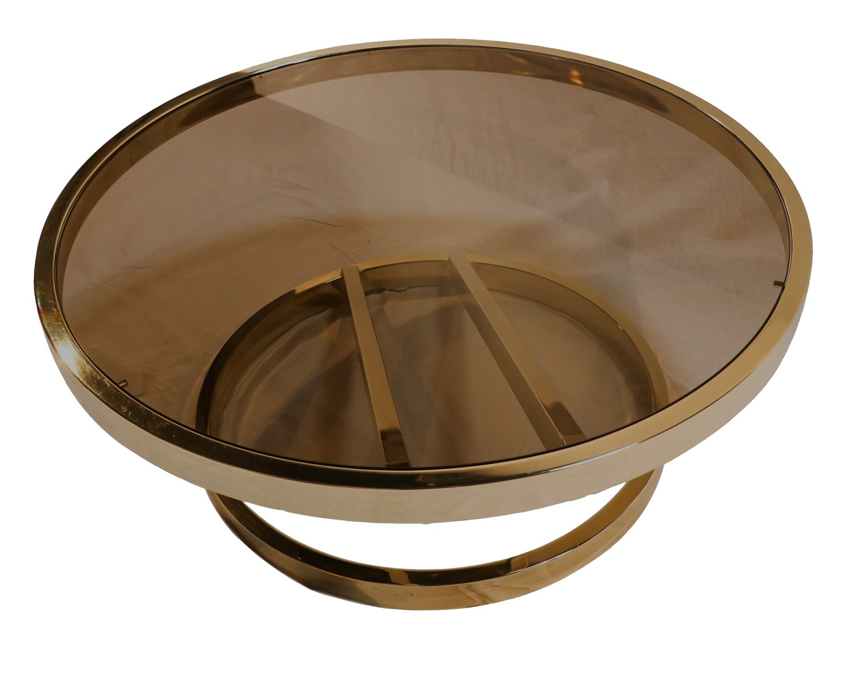 Milo Baughman Mid Century Modern Glass Coffee Table Zig