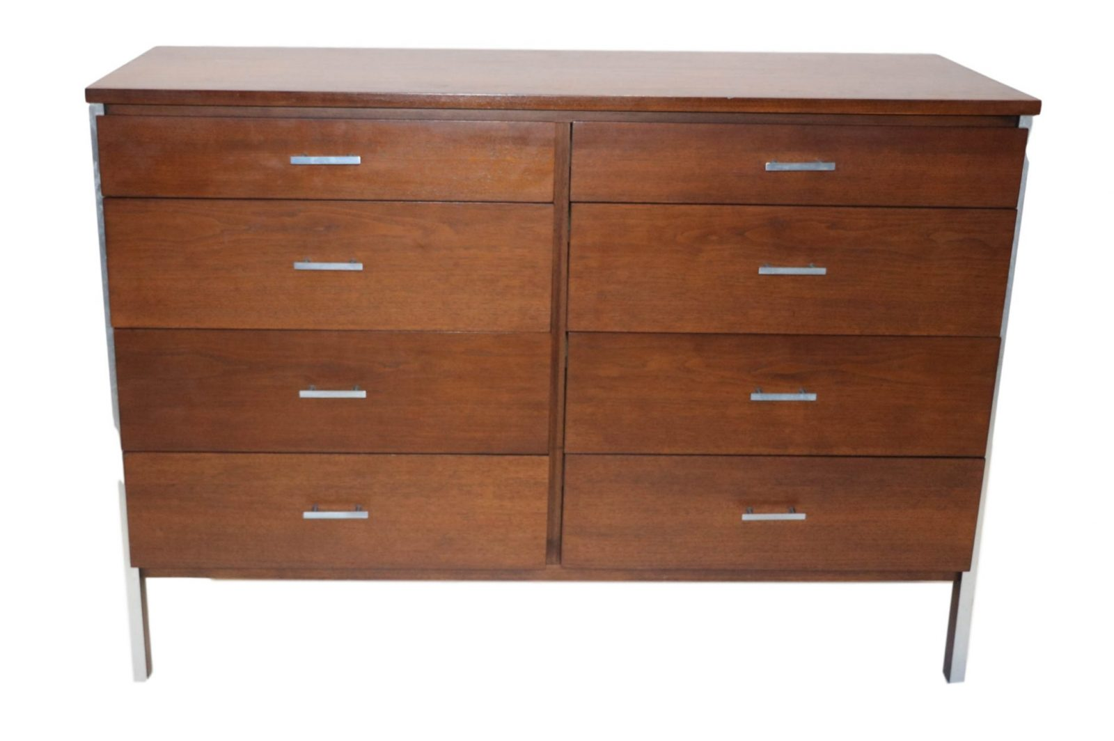 Classic Paul Mccobb Mid Century Eight Drawer Walnut Dresser