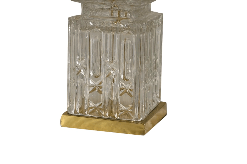A Cut Glass Electric Table Lamp Base