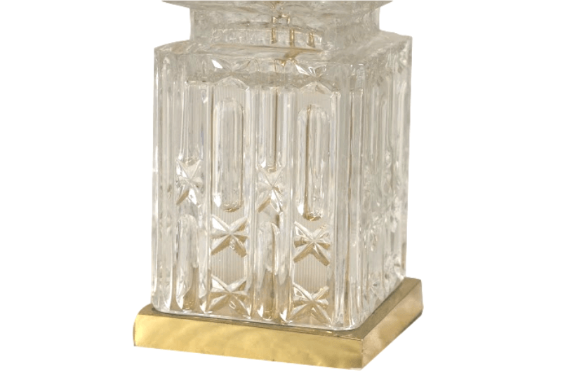 Glass Lamp Bases South Africa: A Cut Glass Electric Table Lamp Base