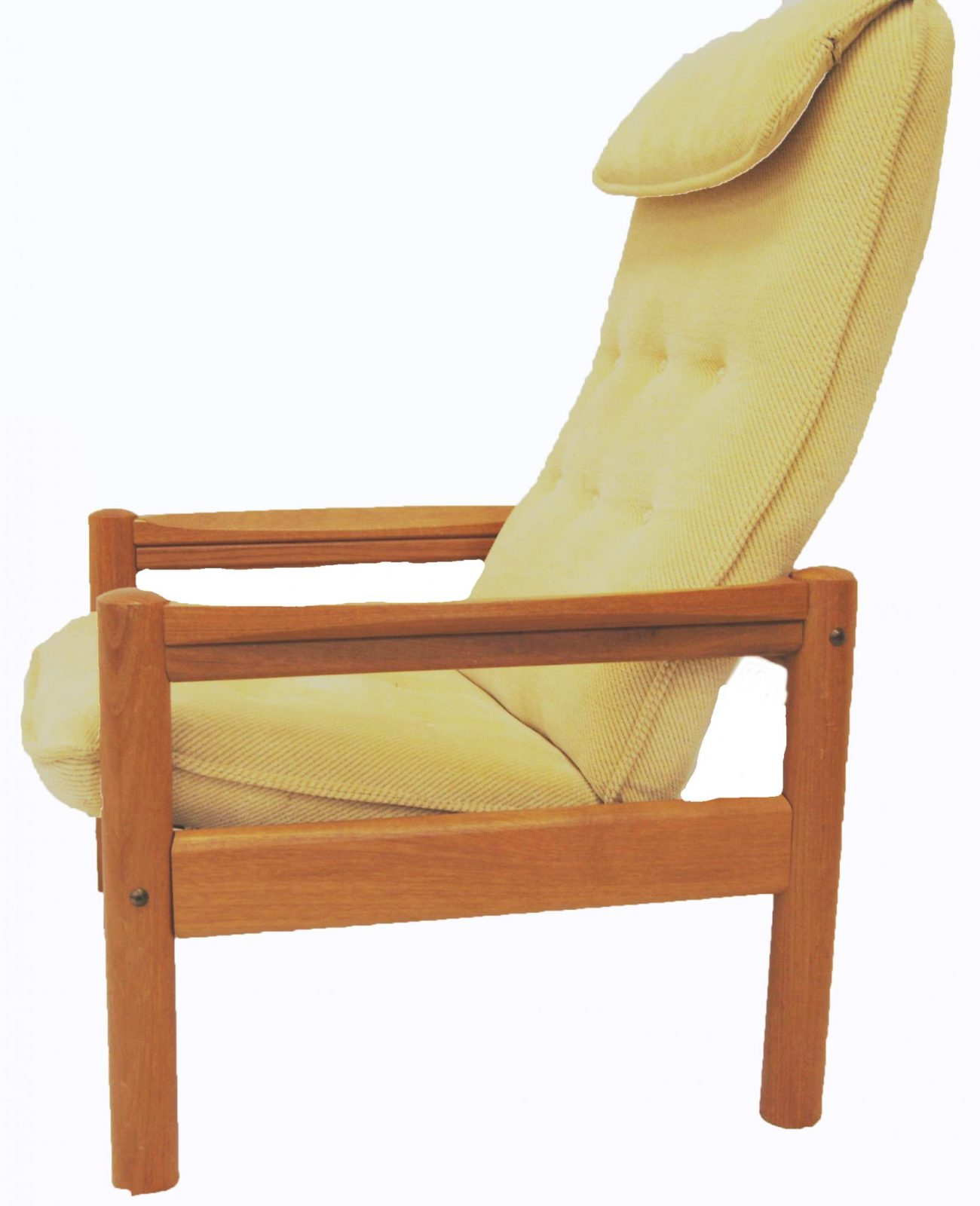 Mid Century Danish Modern Domino Mobler Teak Lounge Chair