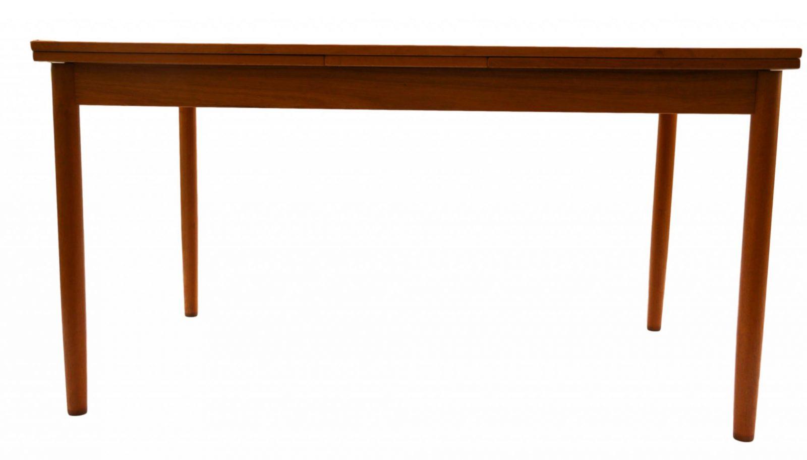 Danish mid century modern teak extendable dining table for Mid century modern dining table