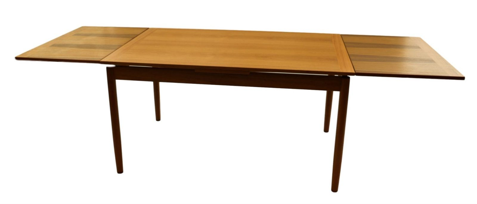 danish mid century modern teak extendable dining table. Black Bedroom Furniture Sets. Home Design Ideas