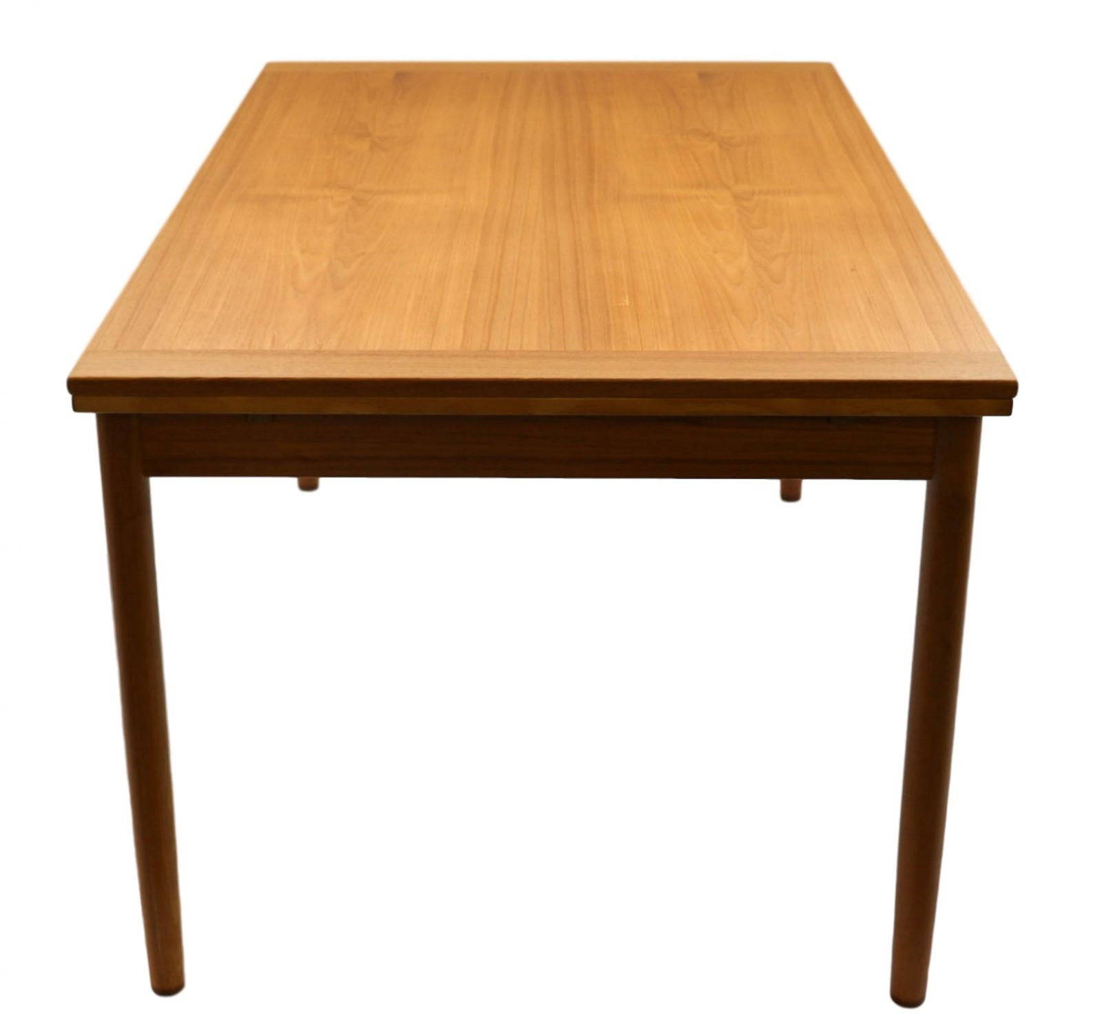 Mid Century Danish Modern Small Scale Drawer Coffee Table: Danish Mid Century Modern Teak Extendable Dining Table