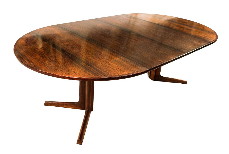 Beau Danish Modern Rosewood Niels Moller Dining Table