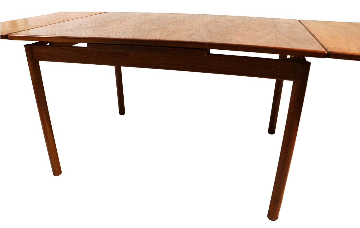 Danish modern teak extendable dining table for Extendable dining table
