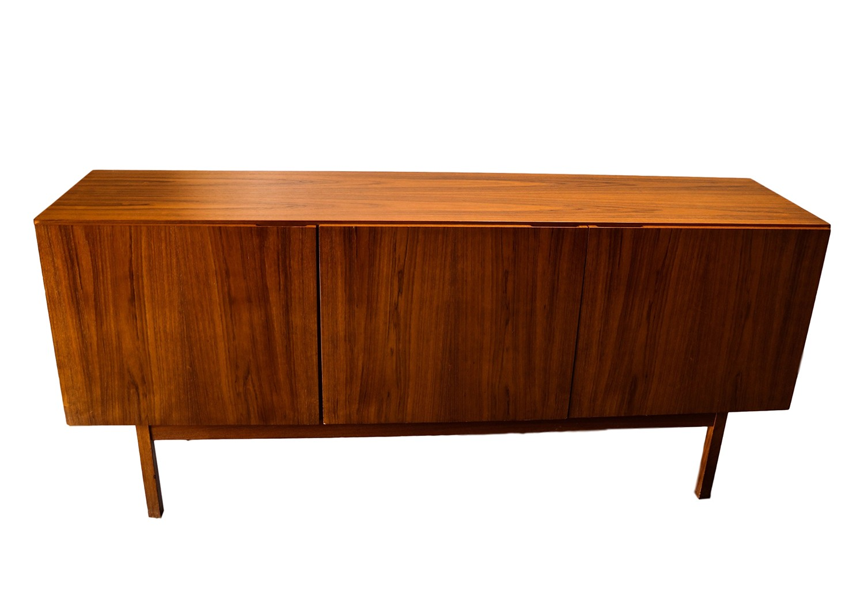 Danish modern teak sideboard credenza for Danish furniture