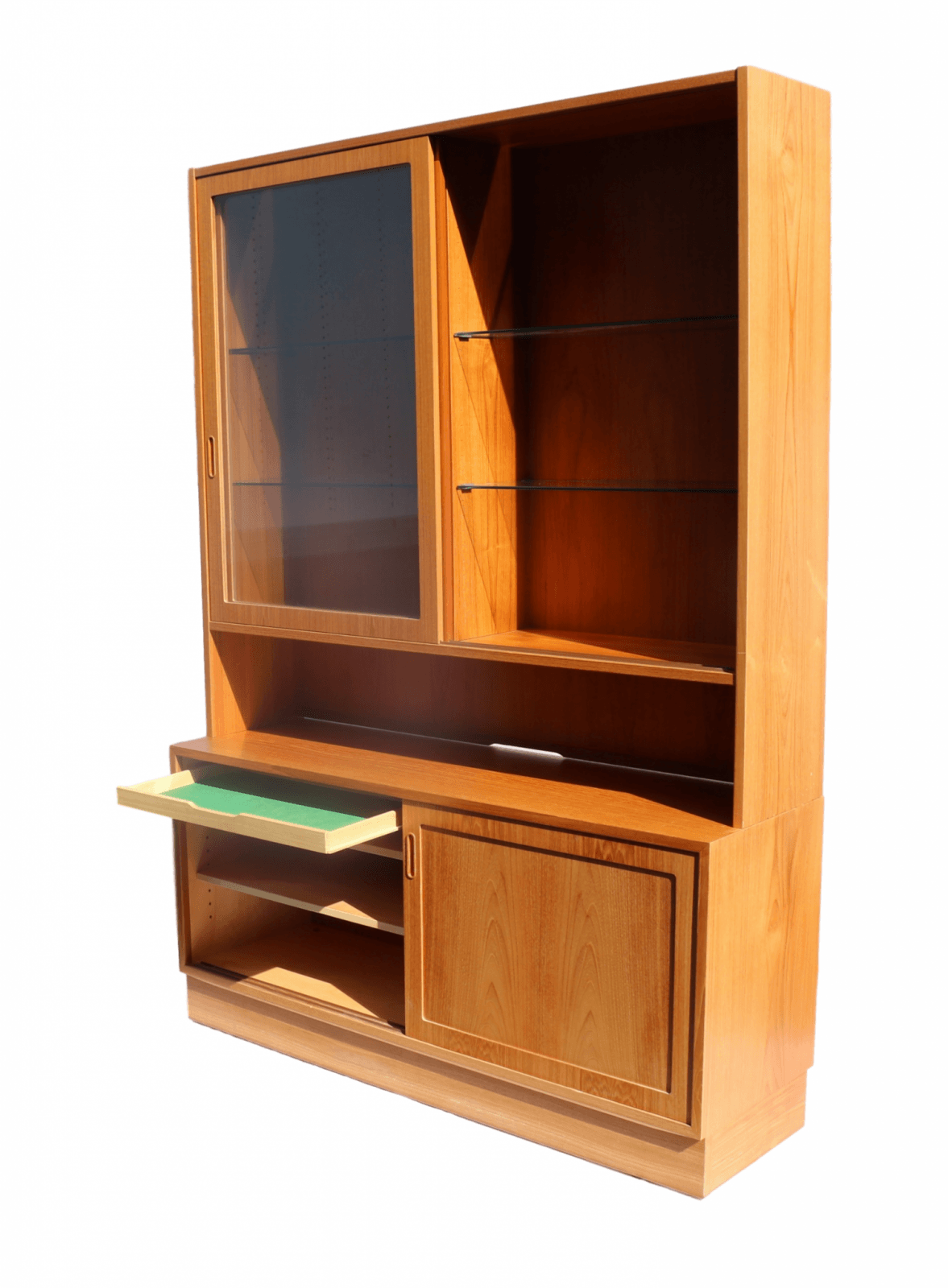 Danish Modern Teak Sideboard Hutch