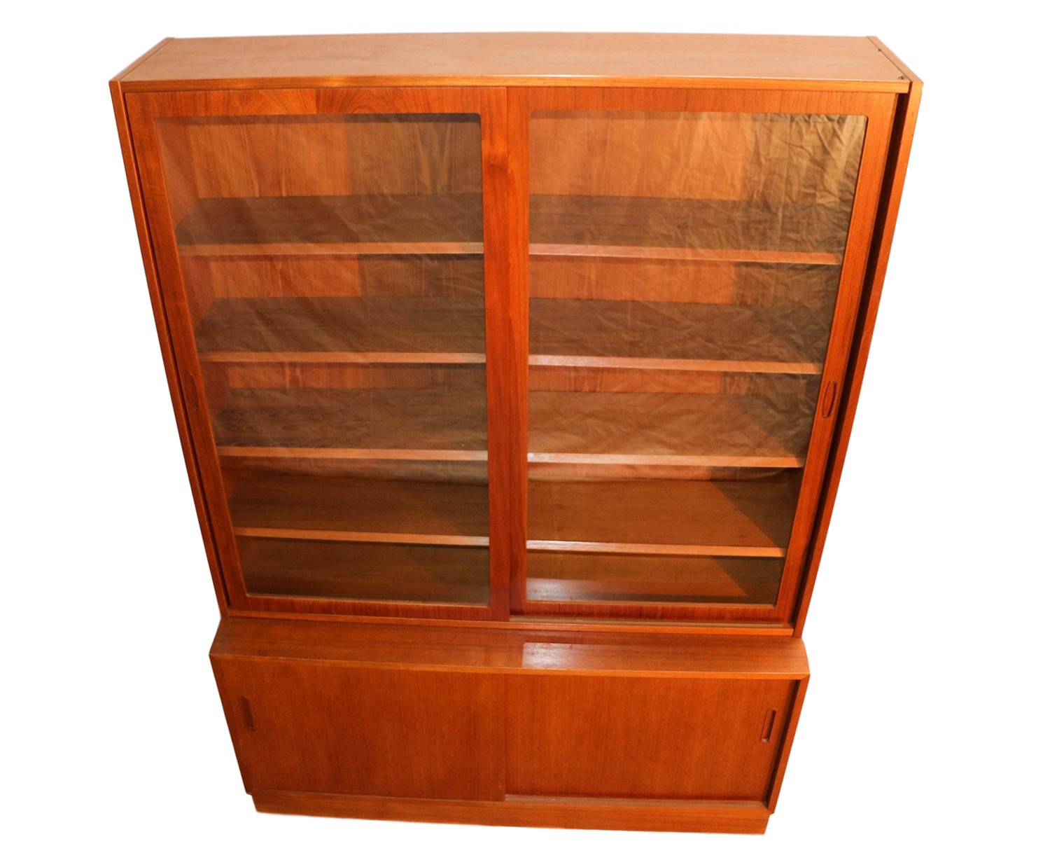 Danish Credenza Hutch : Danish modern teak sideboard hutch