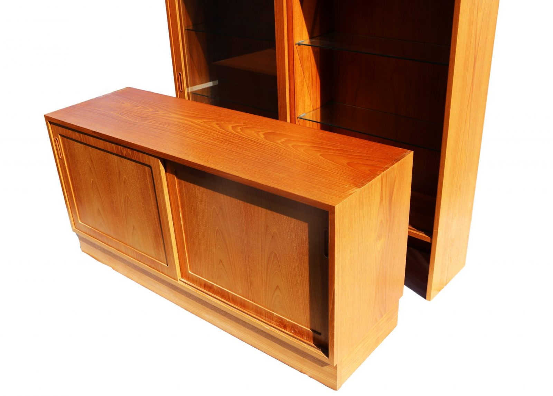 Danish Modern Teak Sideboard Hutch