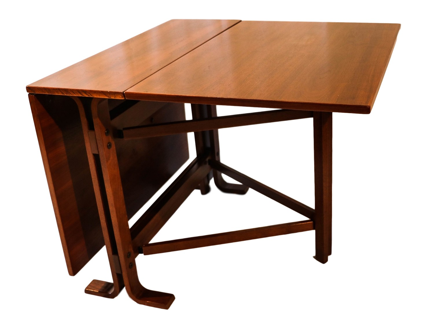 Danish drop leaf teak dining table bruno mathsson style for Breakfast table