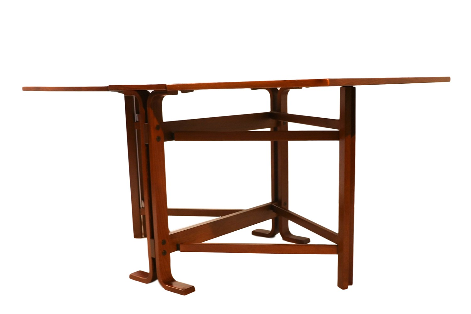 Danish drop leaf teak dining table bruno mathsson style for Drop leaf dining table