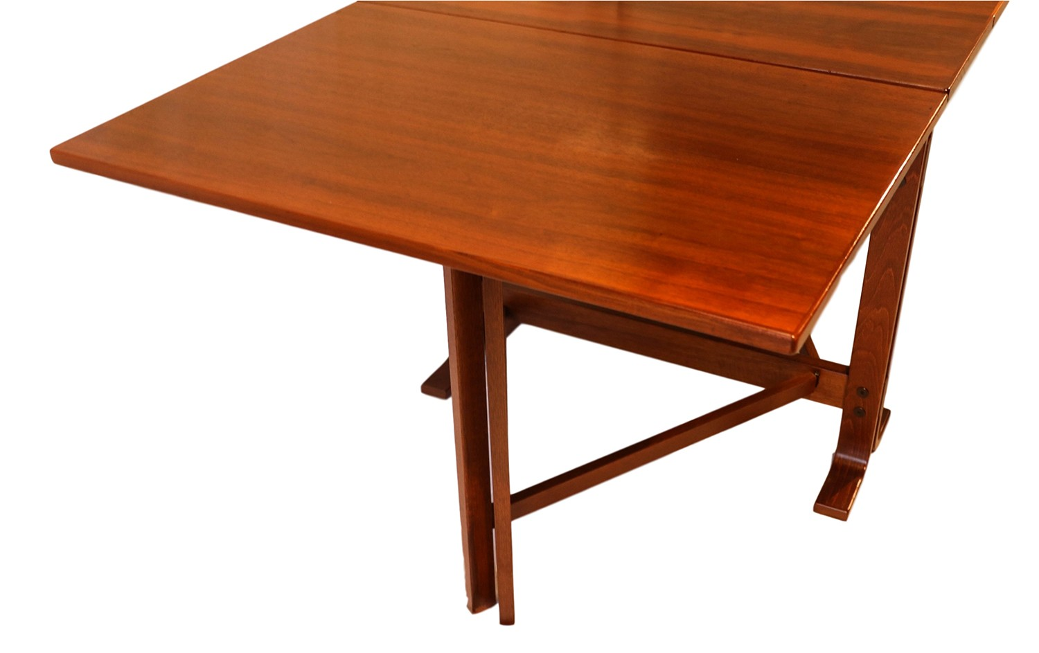 Danish Drop Leaf Teak Dining Table Bruno Mathsson Style - Teak dining table with leaf