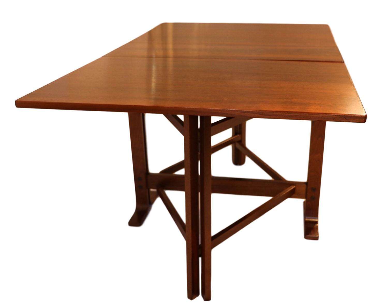 Danish Drop Leaf Teak Dining Table Bruno Mathsson Style