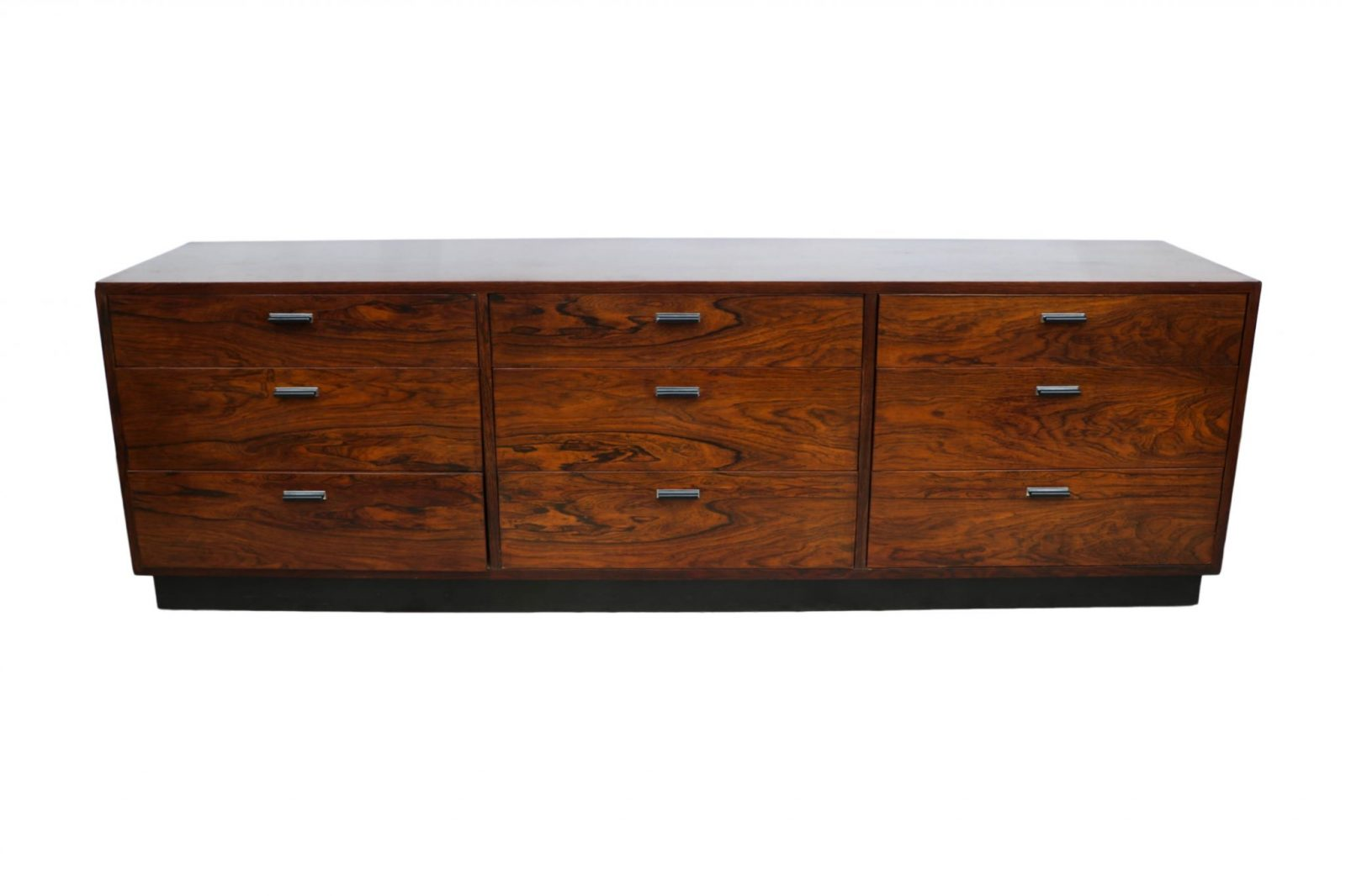 danish mid century rosewood low sideboard dresser milo baughman style. Black Bedroom Furniture Sets. Home Design Ideas