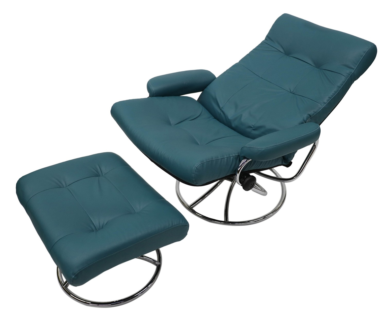Attractive Ekornes Scandinavian Mid Century Reclining Lounge Chair And Ottoman