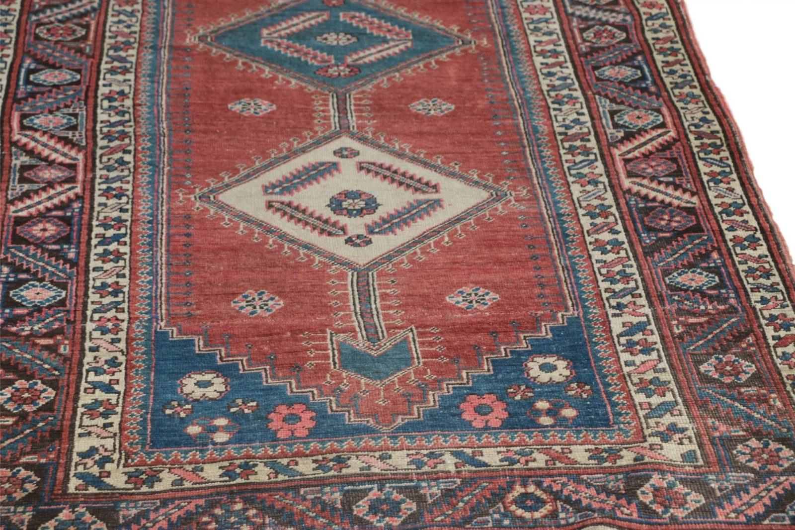 Fine Authentic Antique Heriz Persian Rug Runner