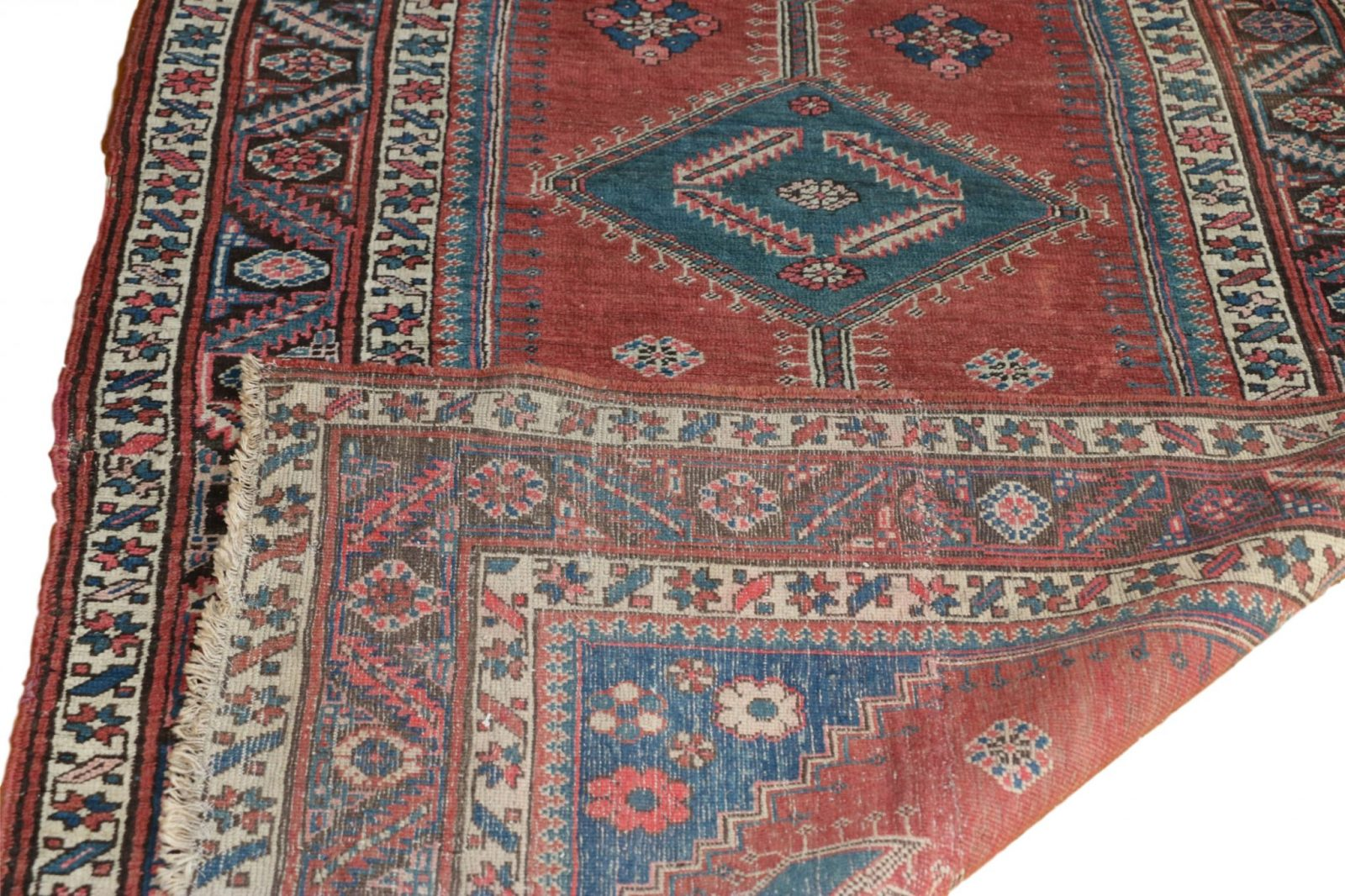 Fine Authentic Antique Heriz Persian Rug Runner