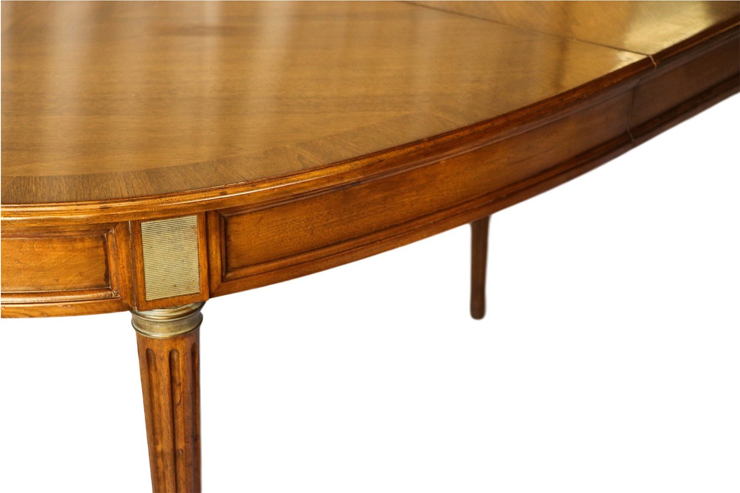 French directoire style oval walnut extending dining room for French style dining room furniture