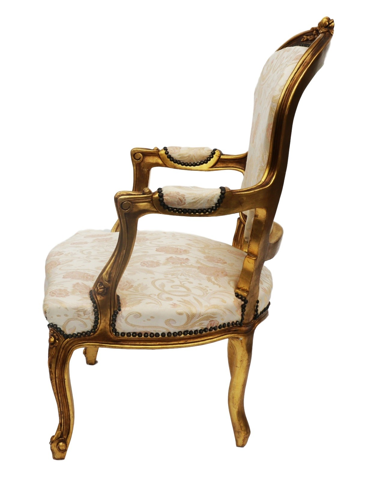 french louis xv style carved gilt wood fauteuil arm chair 20th century. Black Bedroom Furniture Sets. Home Design Ideas