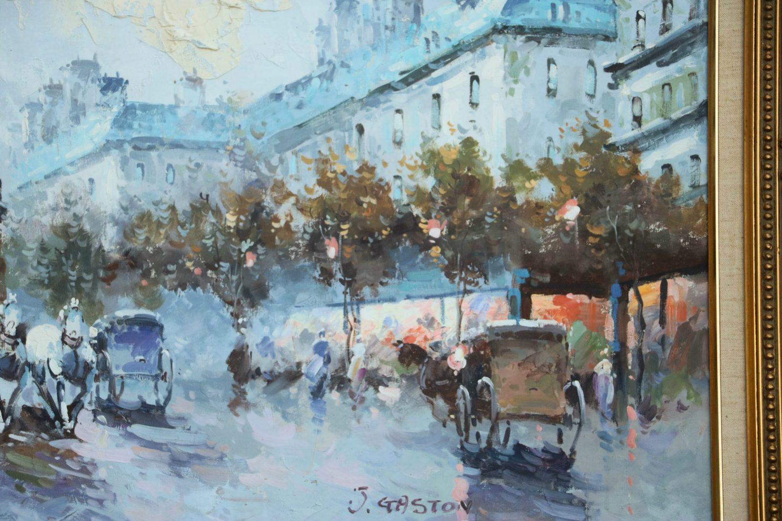 Original Johnny Gaston Paris Scene Oil Painting Signed