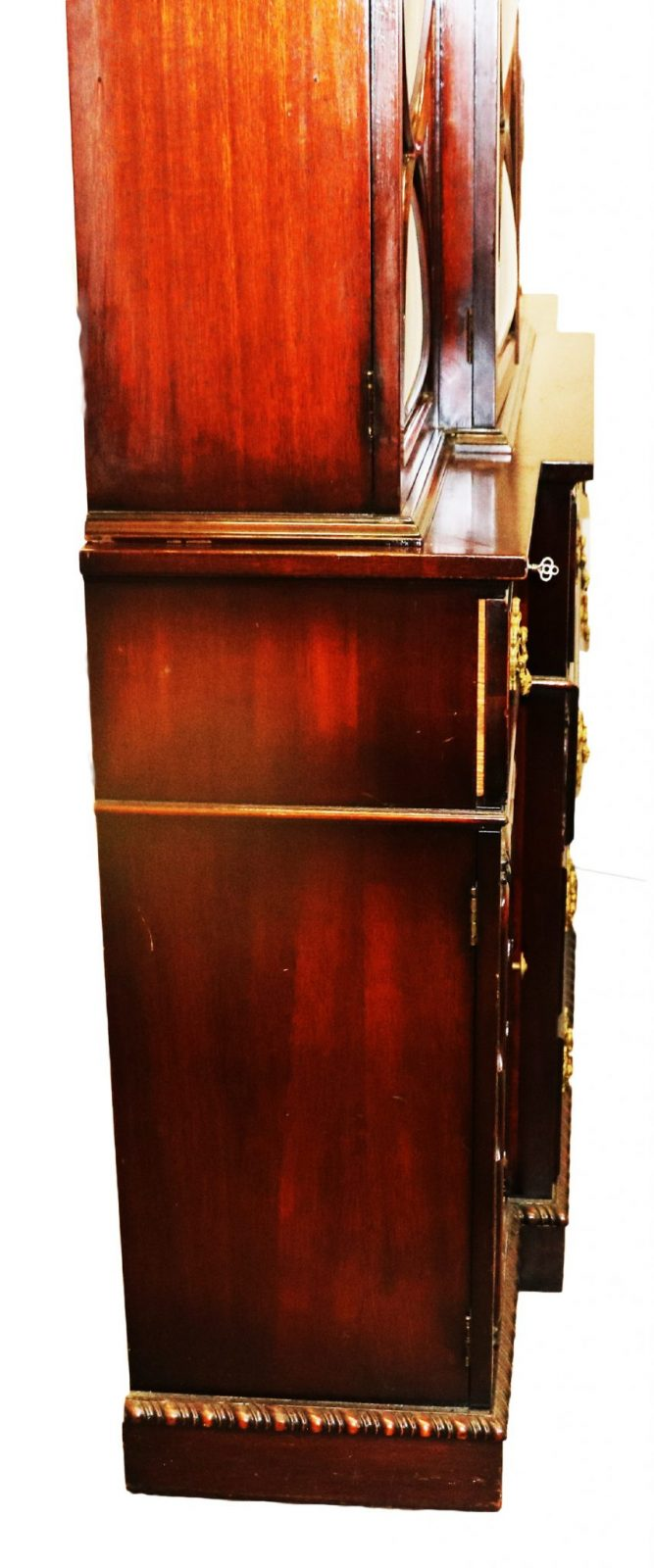 Mahogany Breakfront Secretary China Cabinet