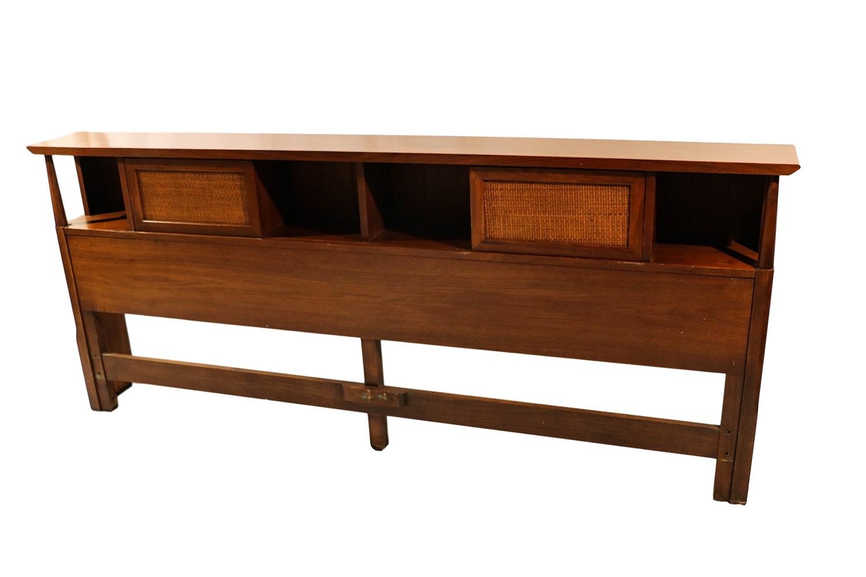 Mid century american of martinsville king storage headboard for Mid century american furniture