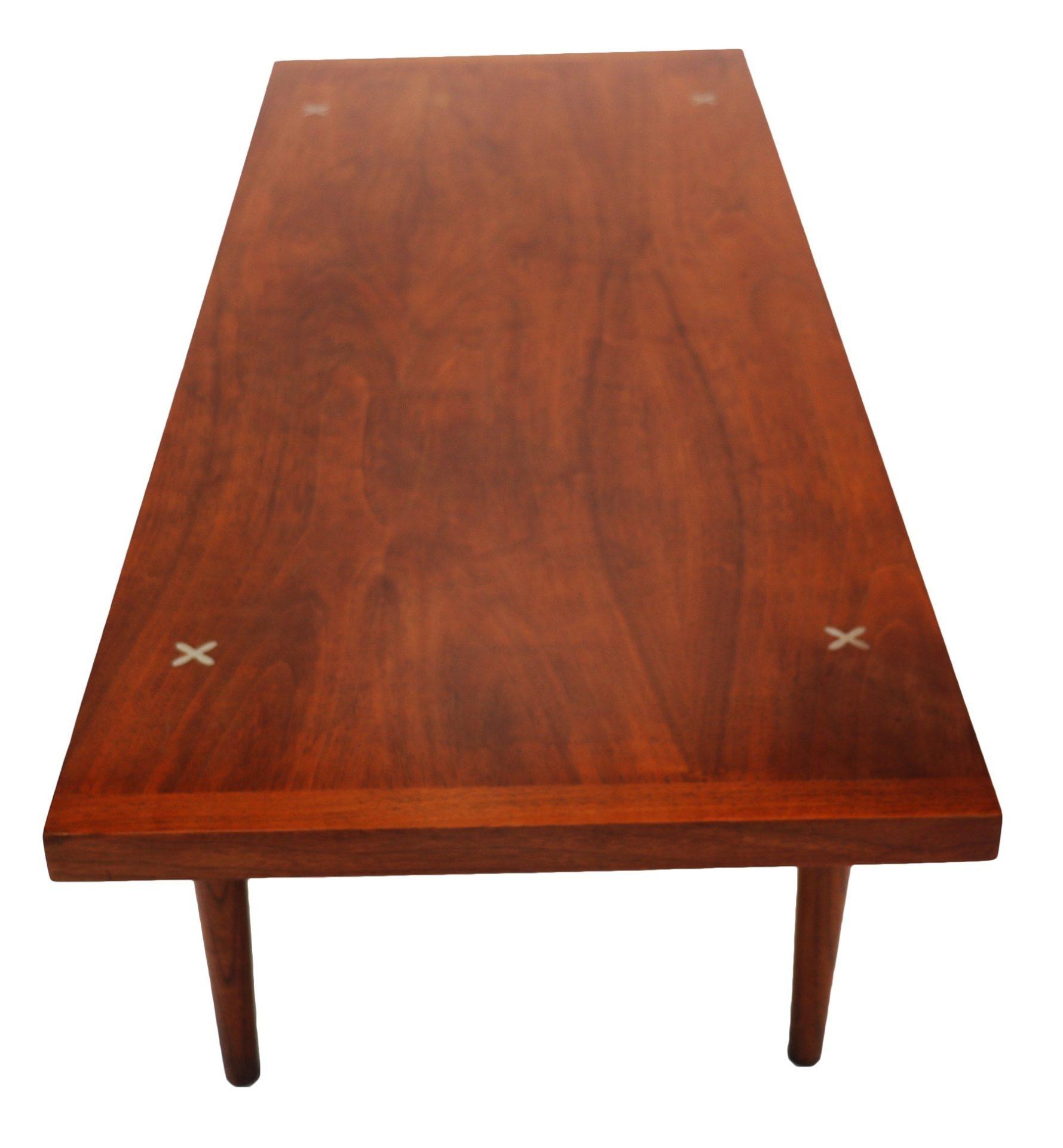 Mid Century American Of Martinsville Walnut Coffee Table