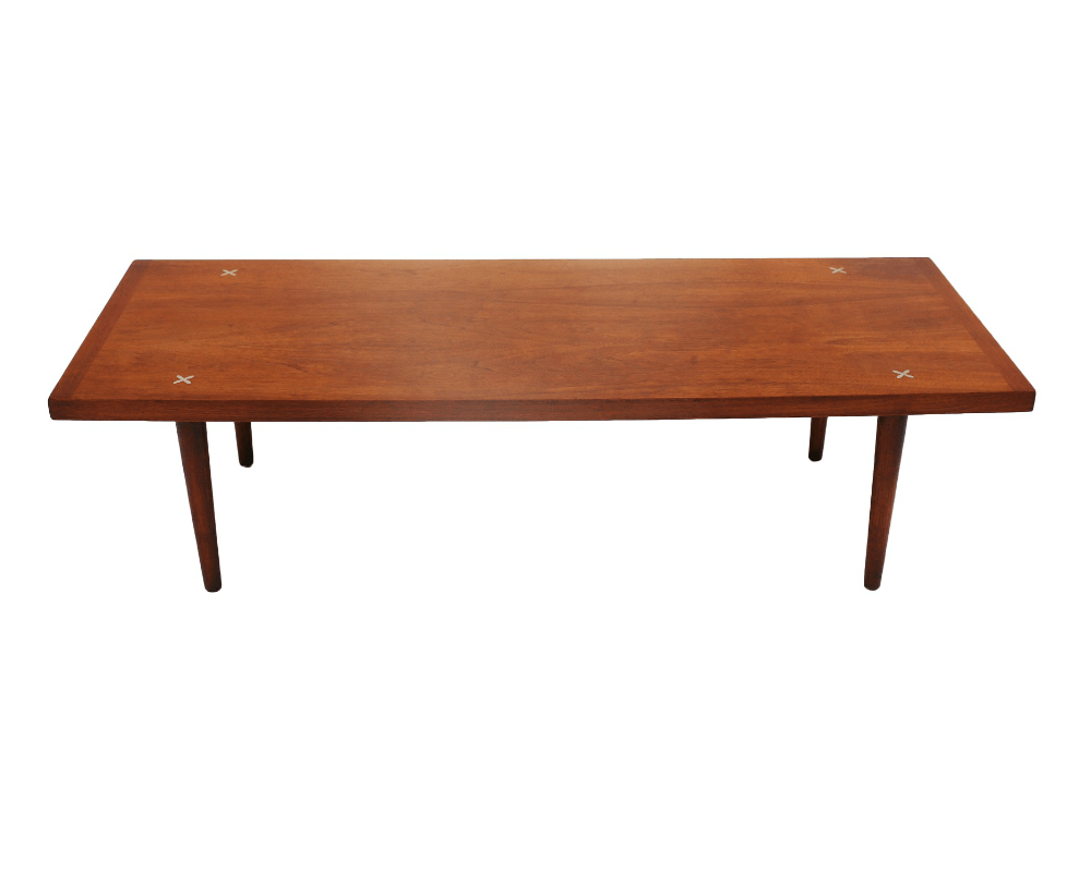 Mid century american of martinsville walnut coffee table Mid century coffee tables