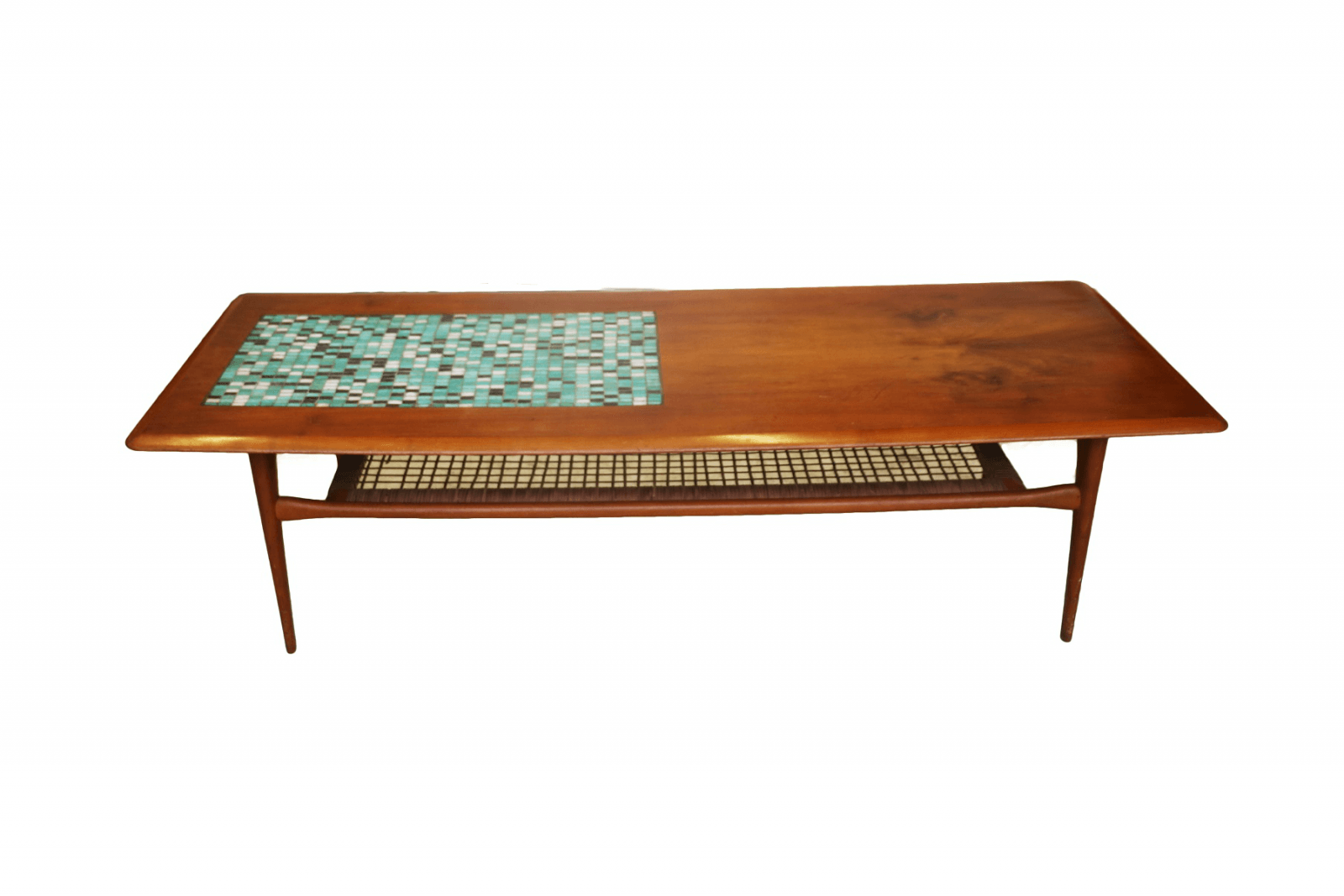 mid century danish coffee table two tier. Black Bedroom Furniture Sets. Home Design Ideas