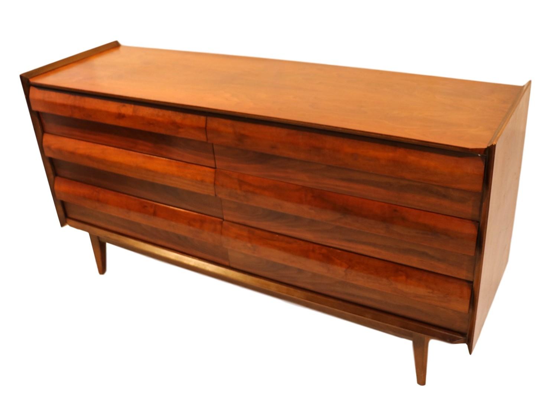 Mid Century Lane Walnut Dresser