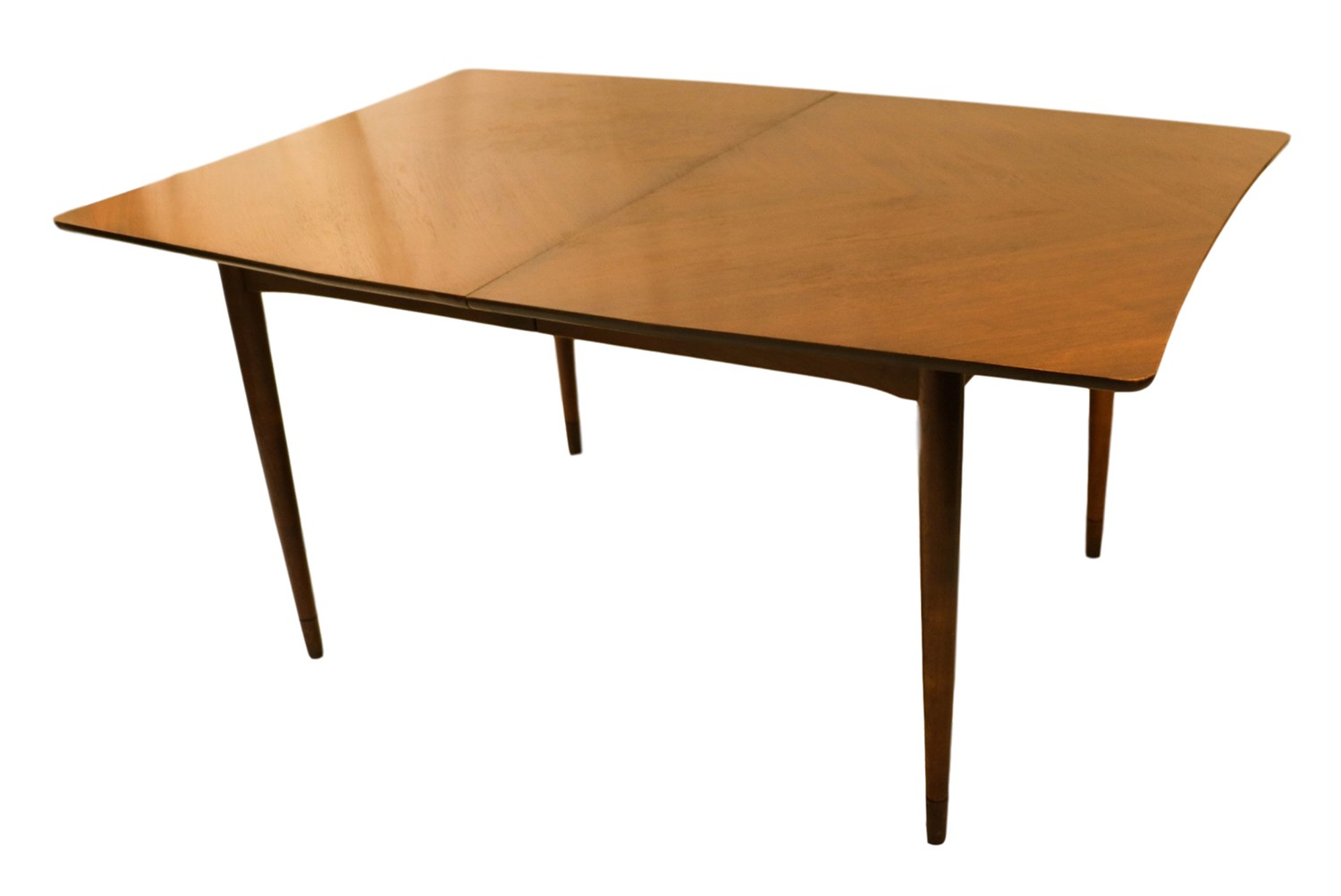 Mid century modern american of martinsville walnut dining for Mid century modern dining table
