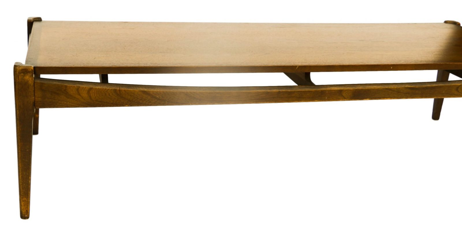 Mid century modern bassett walnut coffee table for Modern furniture
