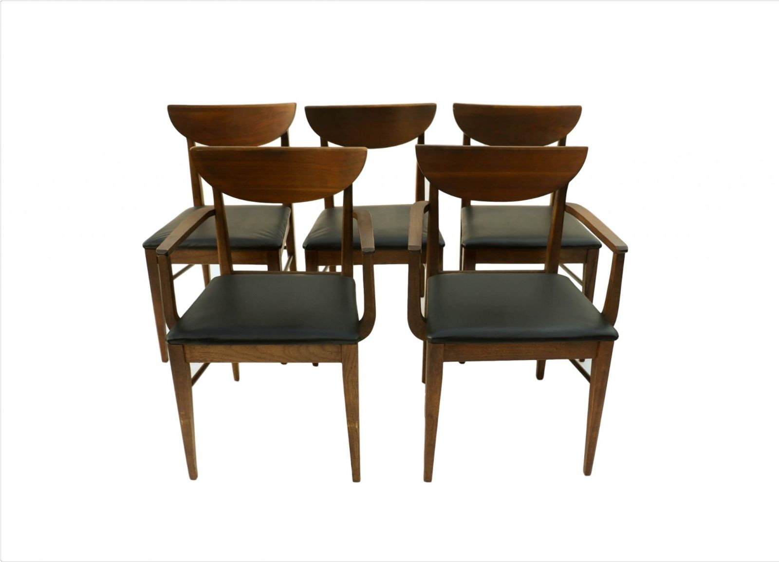 Mid century modern bassett dining chairs for Modern dining furniture