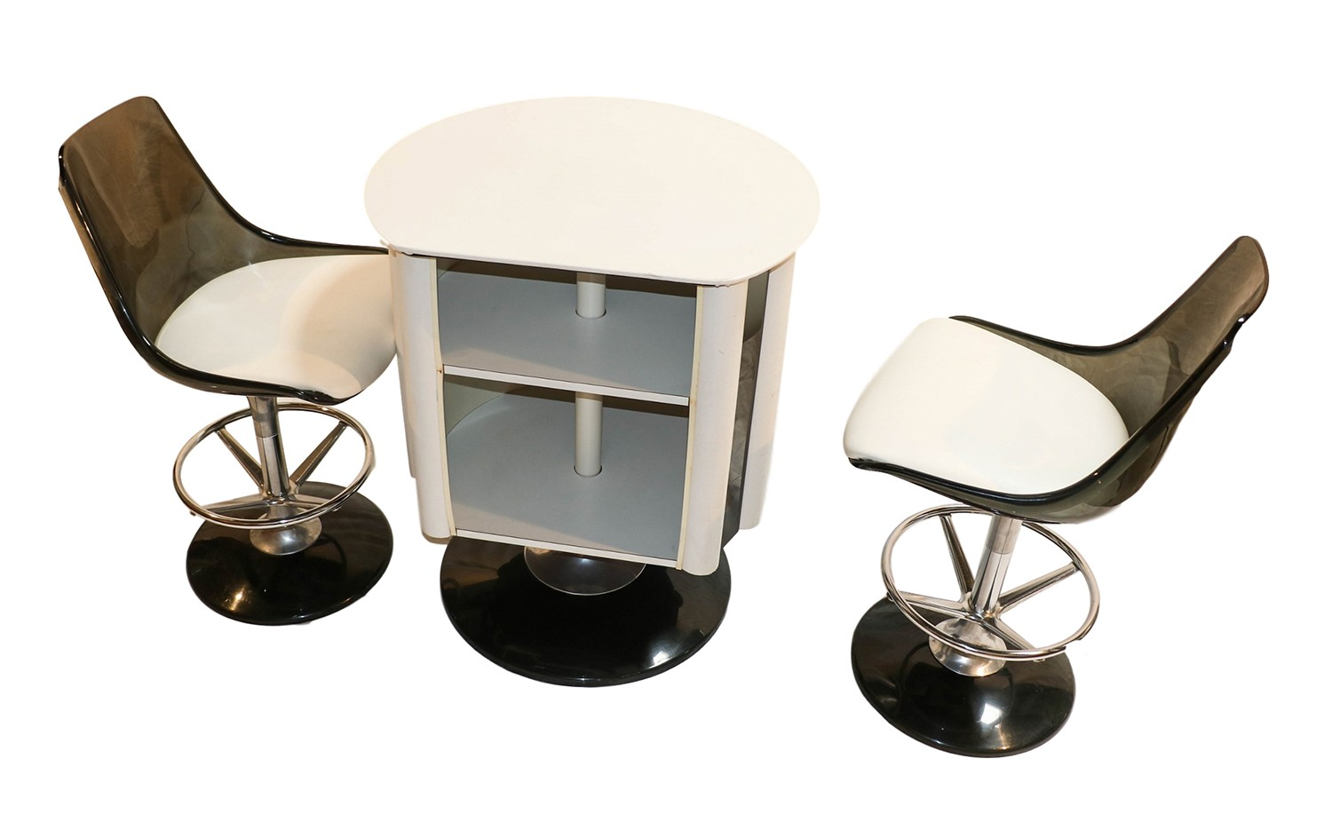 Mid Century Modern Chromcraft Bar Set Table Chairs Stools