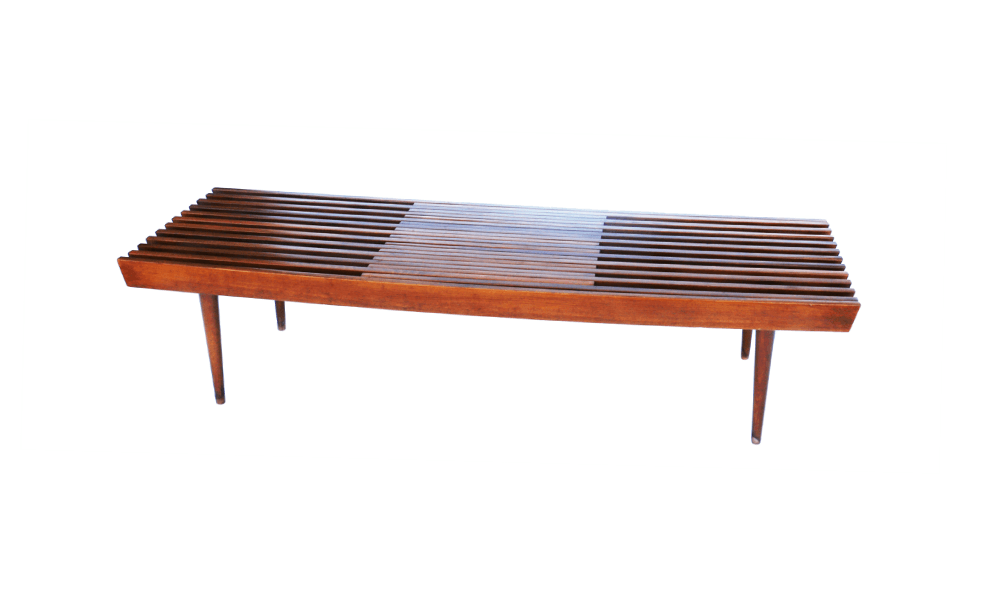 Mid Century Modern Danish Expandable Slat Bench wood  : Mid Century Modern Expandable Slat Bench Coffee Table 1 1 1 from marykaysfurniture.com size 1000 x 600 png 137kB