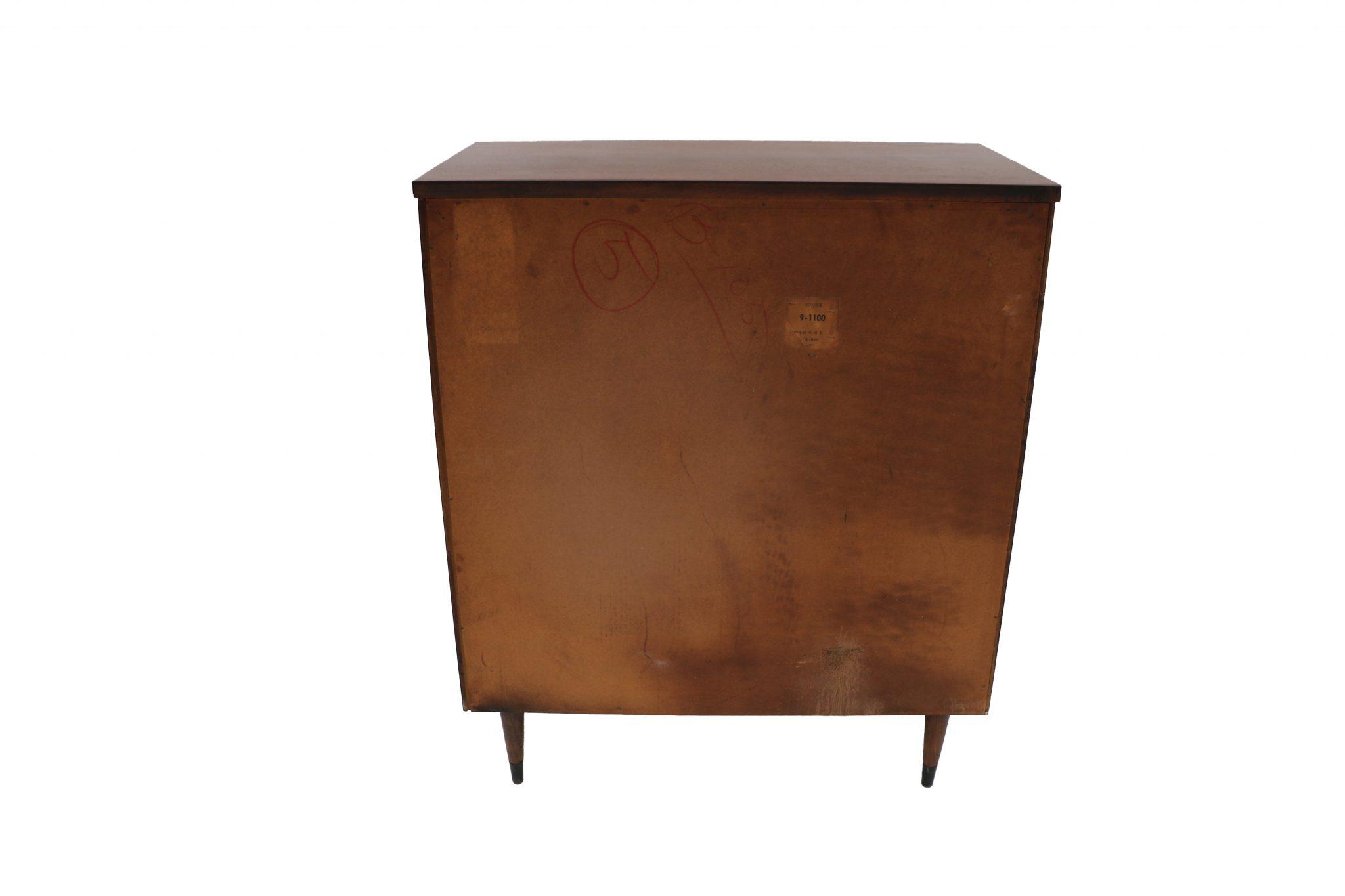 Mid century modern highboy dresser bassett for Century furniture