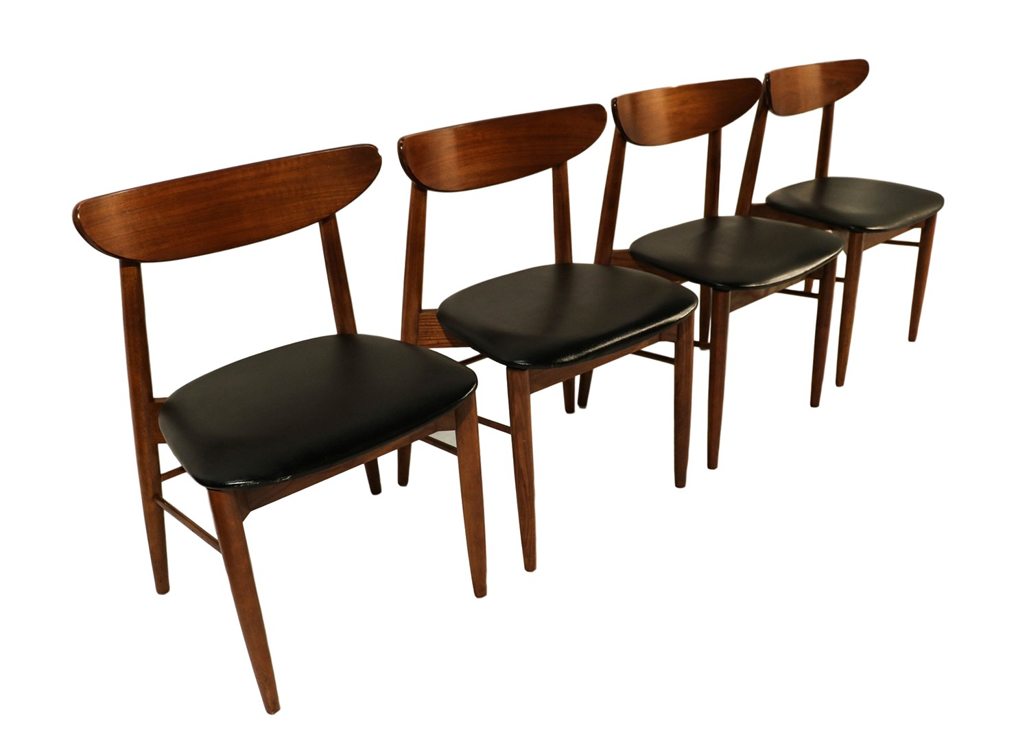 Lane mid century modern walnut dining chairs for Lane furniture