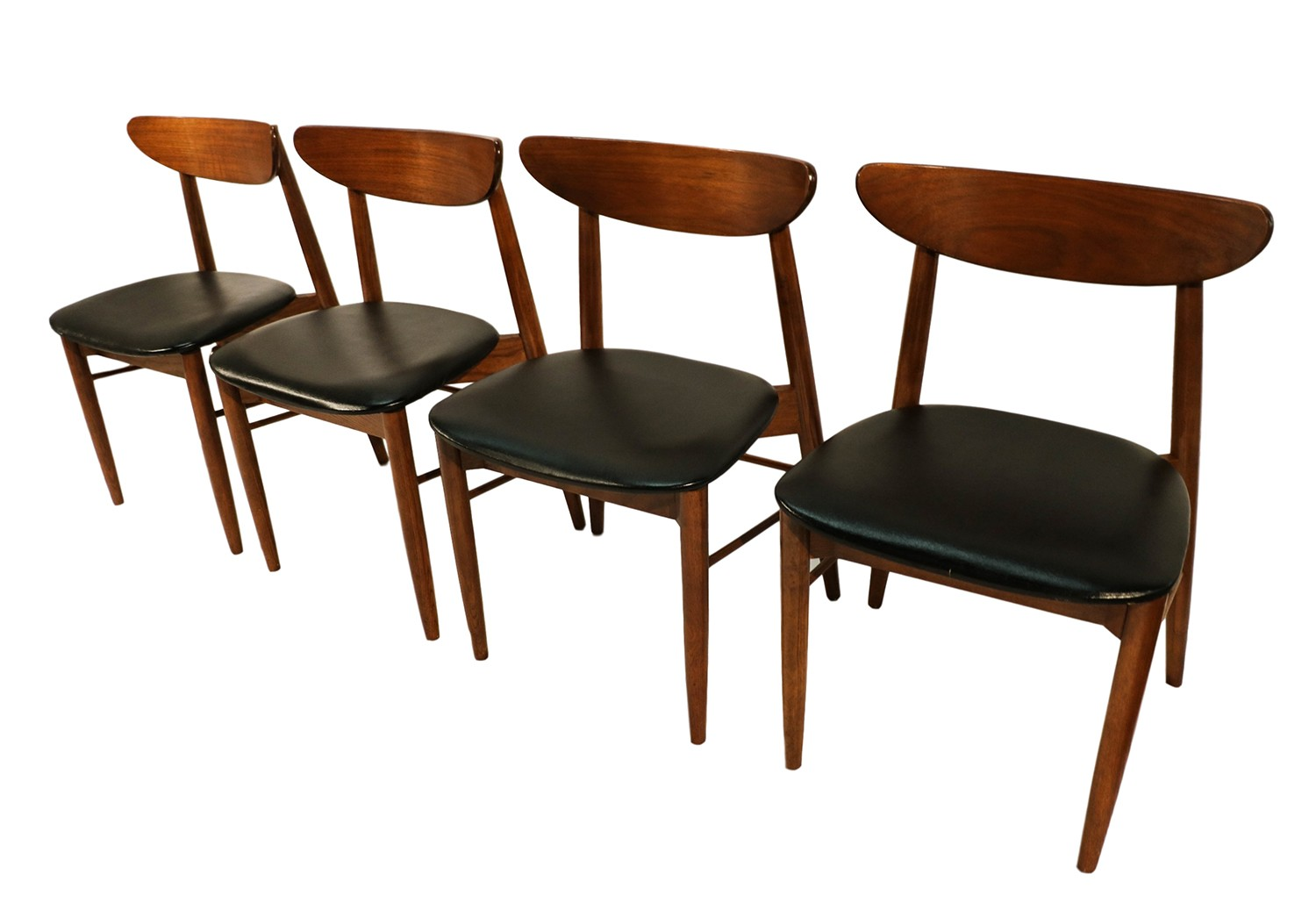 lane mid century modern walnut dining chairs. Black Bedroom Furniture Sets. Home Design Ideas